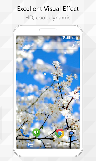 Pear Flower Live Wallpaper