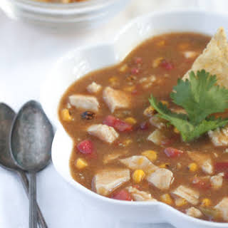 Chunky Chicken Enchilada Soup.