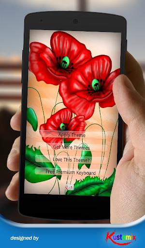 Poppy Flowers Keyboard