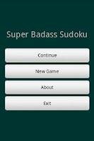 Screenshot of Blaine's Sudoku