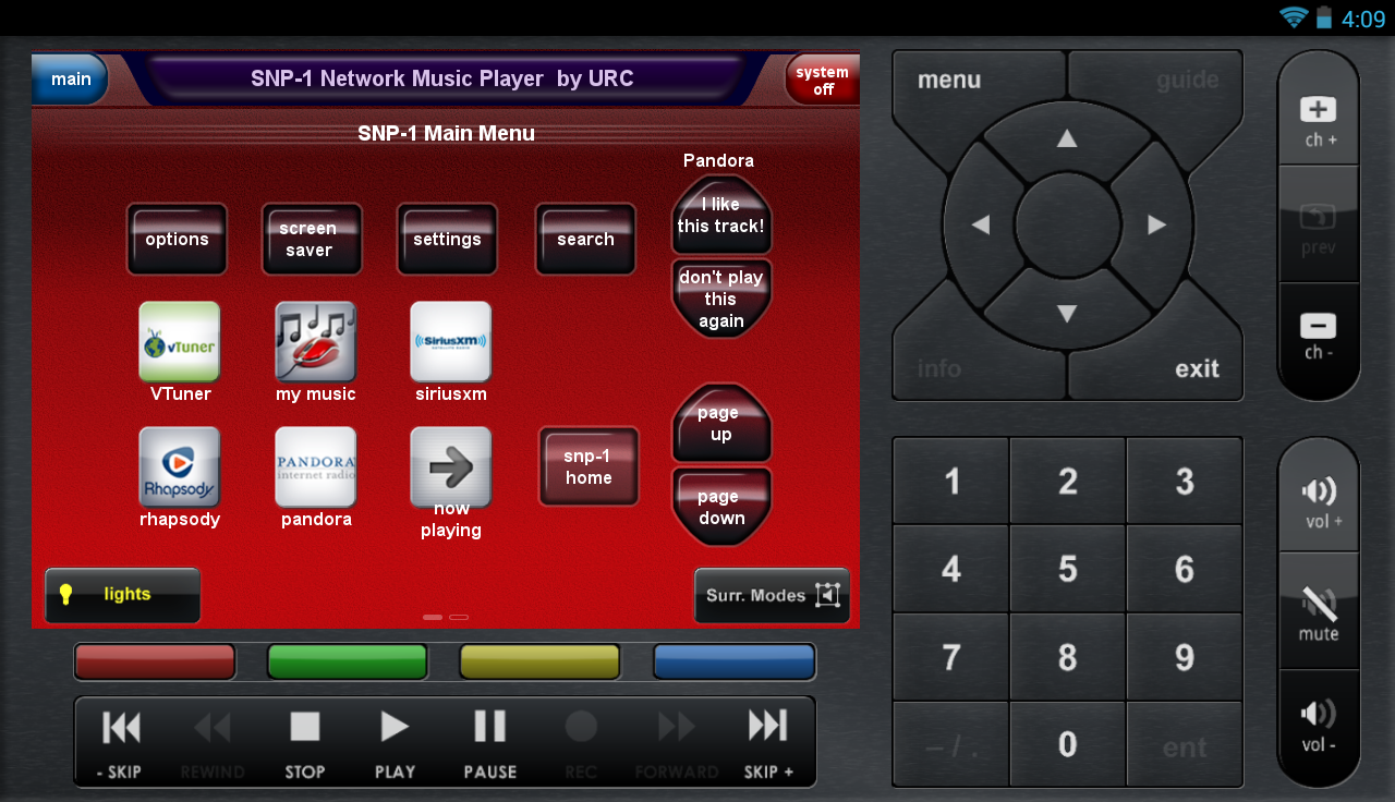 CC Control Mobile for Android™ - screenshot