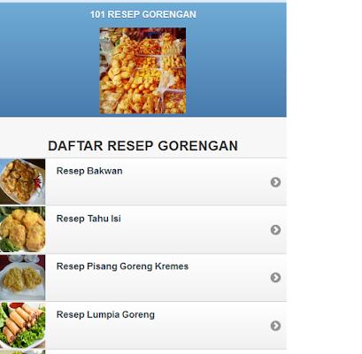 101 RESEP GORENGAN - screenshot