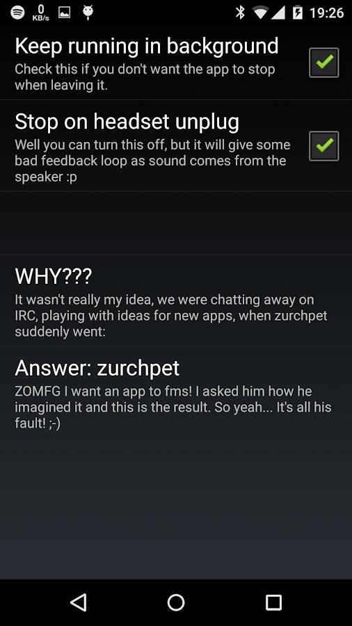FMS - Audio delay - screenshot