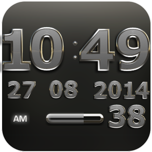 Digi Clock Widget Iron Sun