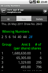 SG Lucky Numbers- screenshot thumbnail