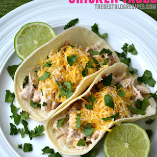 Creamy Slow Cooker Chicken Tacos.