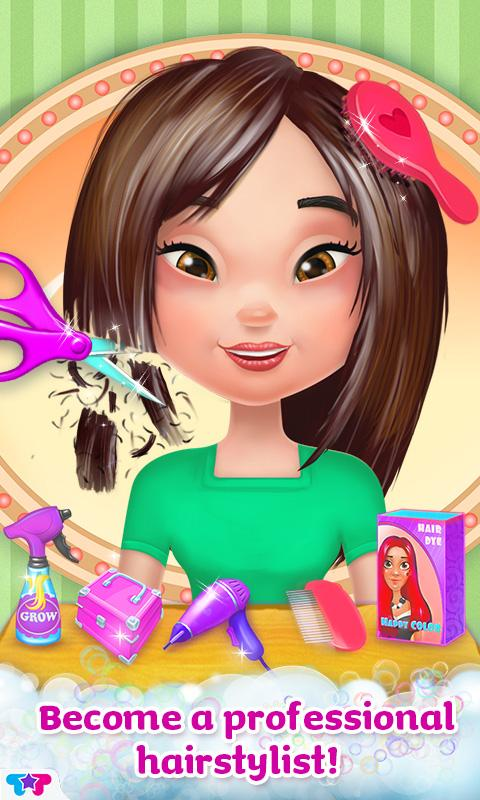 Surprising Crazy Hair Salon Girl Makeover Android Apps On Google Play Hairstyle Inspiration Daily Dogsangcom