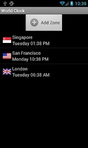 World Clock screenshot 2