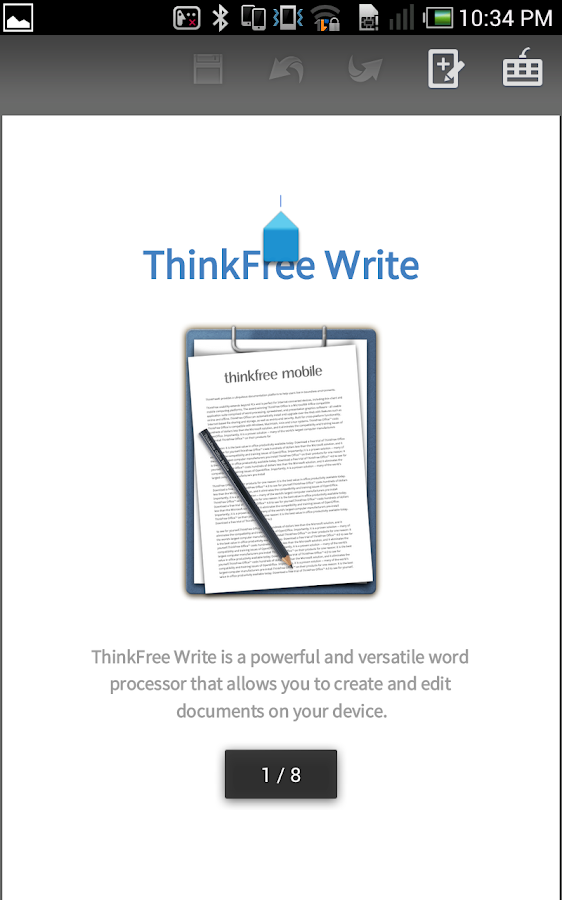 ThinkFree Mobile Pro - screenshot