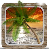 Sunset Beach HD Live Wallpaper