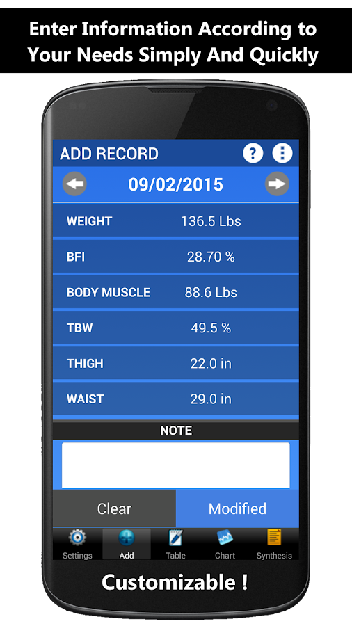 Weigh-In Deluxe Weight Tracker - screenshot