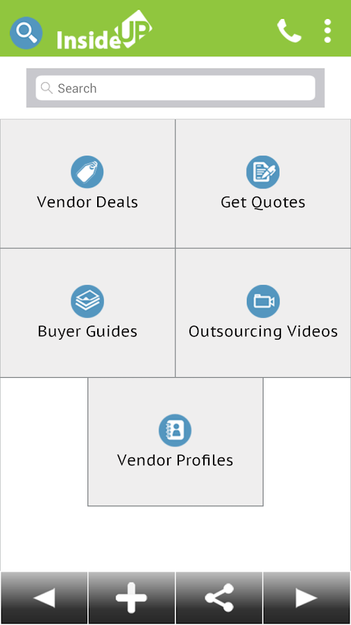 InsideUp - Business Services- screenshot