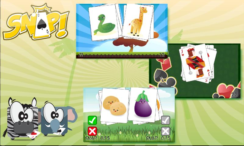 Snap ! Card  Game - screenshot