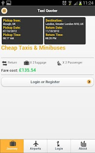 Taxi Quotes Journey Planning- screenshot thumbnail