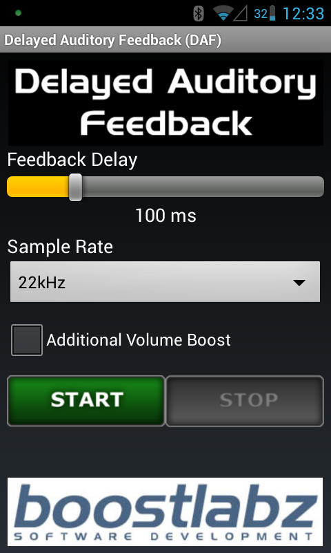 DAF Delayed Auditory Feedback - screenshot