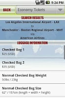 Screenshot of Luggage Limits