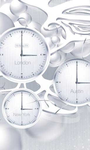 White clock live wallpaper PRO