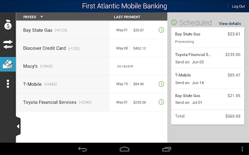 First Atlantic Mobile Banking - screenshot thumbnail