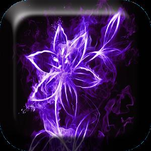Neon blommor Levande Bakgrund APK
