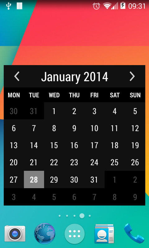 Calendar App Widget Android : Month calendar widget android apps on google play