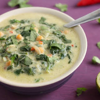 Thai Green Curry Spinach Soup.