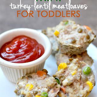 Mini Turkey-Lentil Meatloaves.