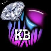 KB SKIN - ZebraPastelDiamonds