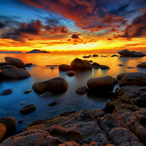 Long way home by Hendri Suhandi - Landscapes Beaches ( clouds, sunset, beach, singkawang, borneo )