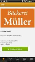 Screenshot of Bäckerei Müller
