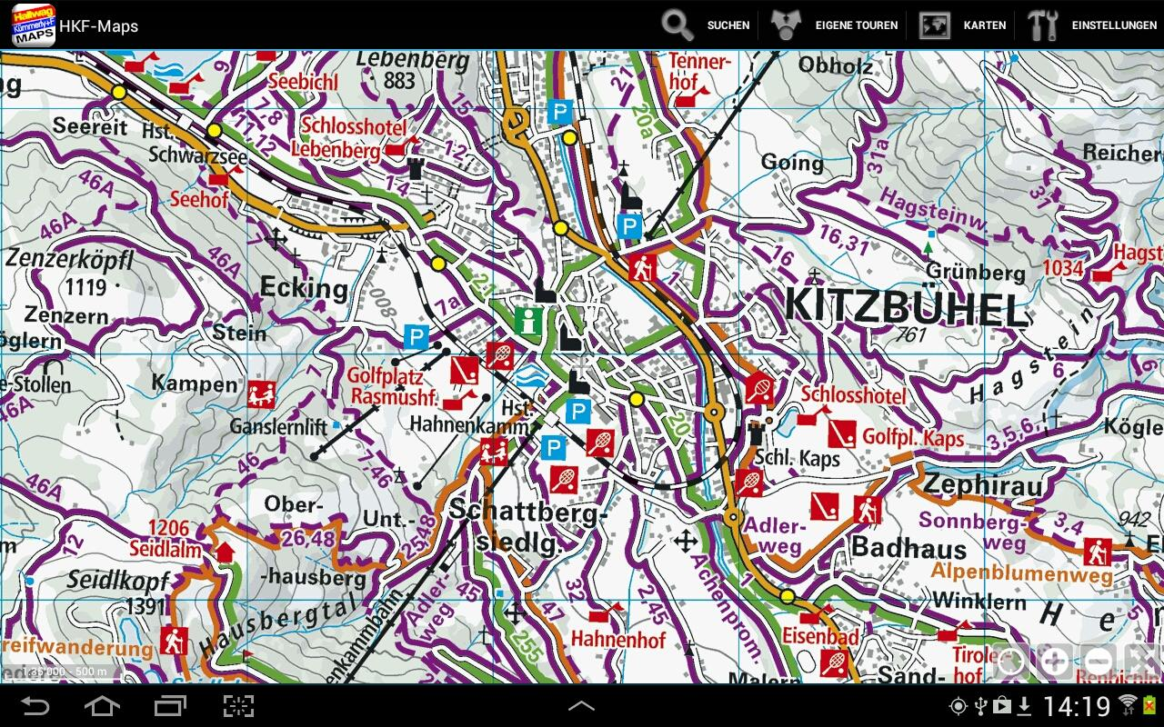 HKF-Maps – Screenshot