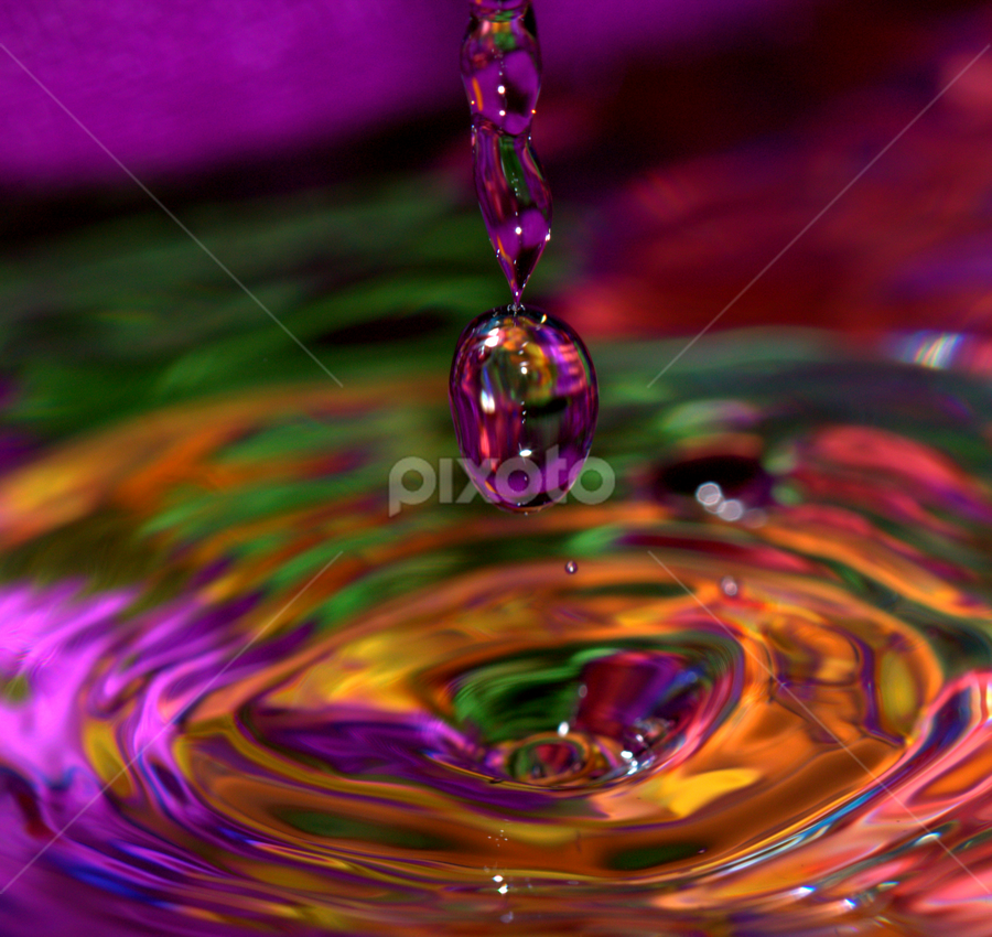 Color Splash by Janet Lyle - Abstract Water Drops & Splashes ( water, colors, droplets )