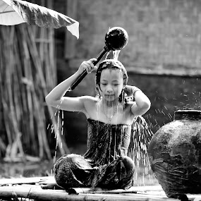morning shower by Deny Satria - People Portraits of Women ( village, woman, indonesia, shower, traditional )
