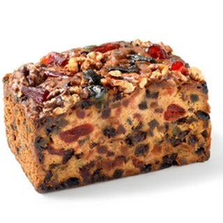 Golden fruit Christmas cake