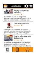 Screenshot of RSS El País