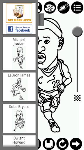 如何繪製NBA球星