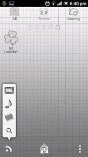 Paper GO Launcher Theme - screenshot thumbnail
