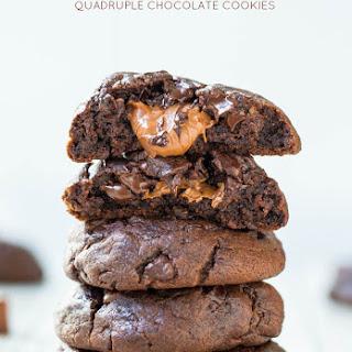 Caramel-Stuffed Quadruple Chocolate Cookies