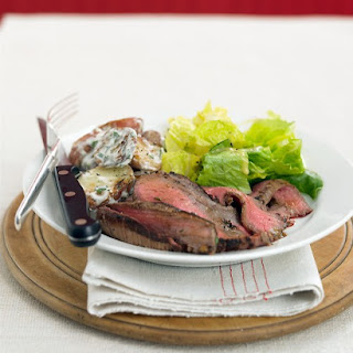 Grilled Steak with Potato Salad