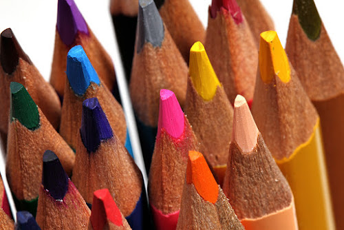 Colorful pencils by Ramakant Sharda - Artistic Objects Still Life ( macro, micro, colors, object, crayons, pencils )