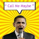"Obama sing "" Call me maybe "" icon"