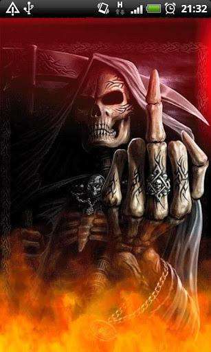 Middle Finger Grim Reaper LWP