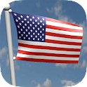 American Flag 3D LWP icon