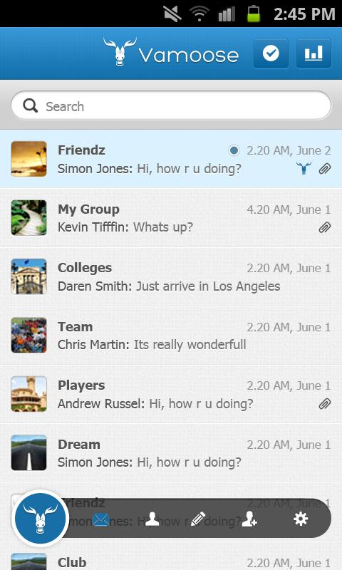 Vamoose Messenger - screenshot