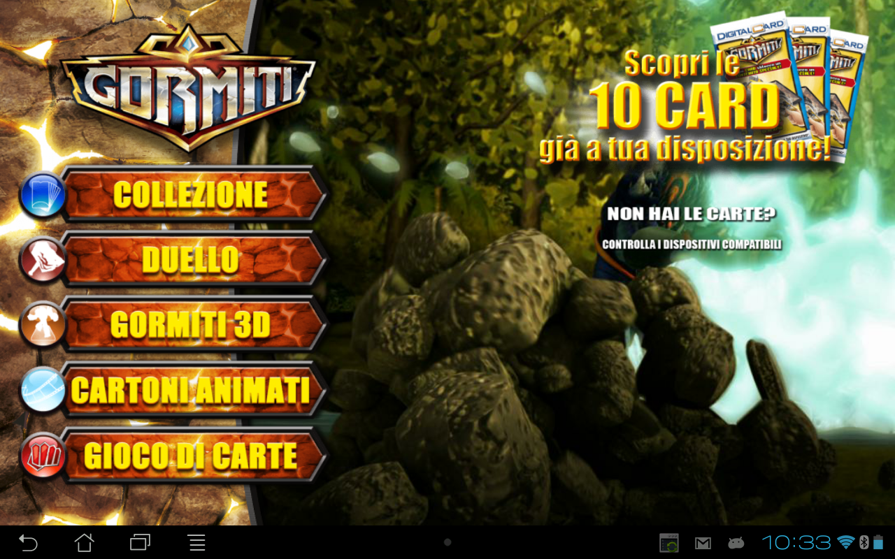 Gormiti Digital Card - screenshot