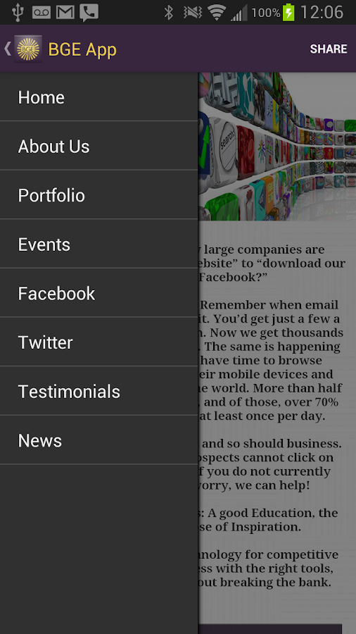 BGE App- screenshot