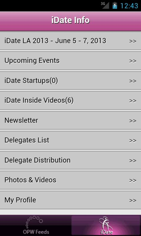 iDate Dating Industry News- screenshot