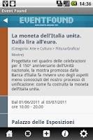 Screenshot of Event Found