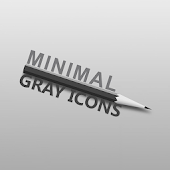 MINIMAL GRAY ICONS APEX NOVA