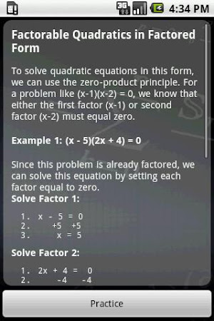 Algebra Tutor 3.01 screenshot 641555