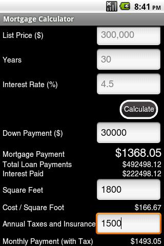 Mortgage Calculator Ad-Free- screenshot